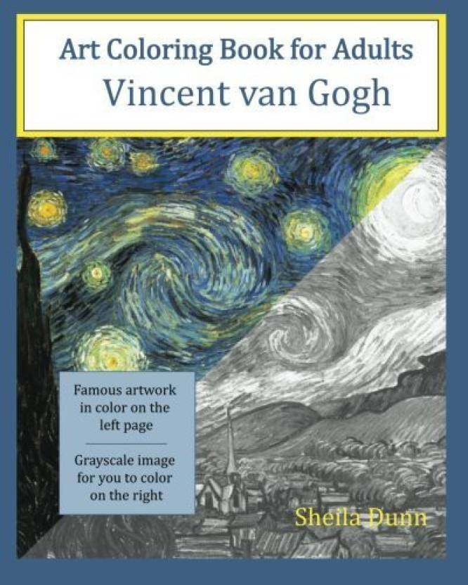Generic Art Coloring Book for Adults Vincent van Gogh - Art Coloring ...