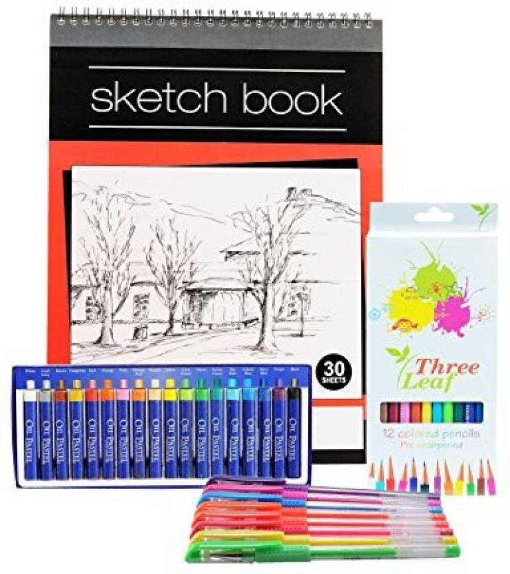Generic Sketch Book Set Wired Sketch Book, 9x12 Inch, 30 Sheets 8