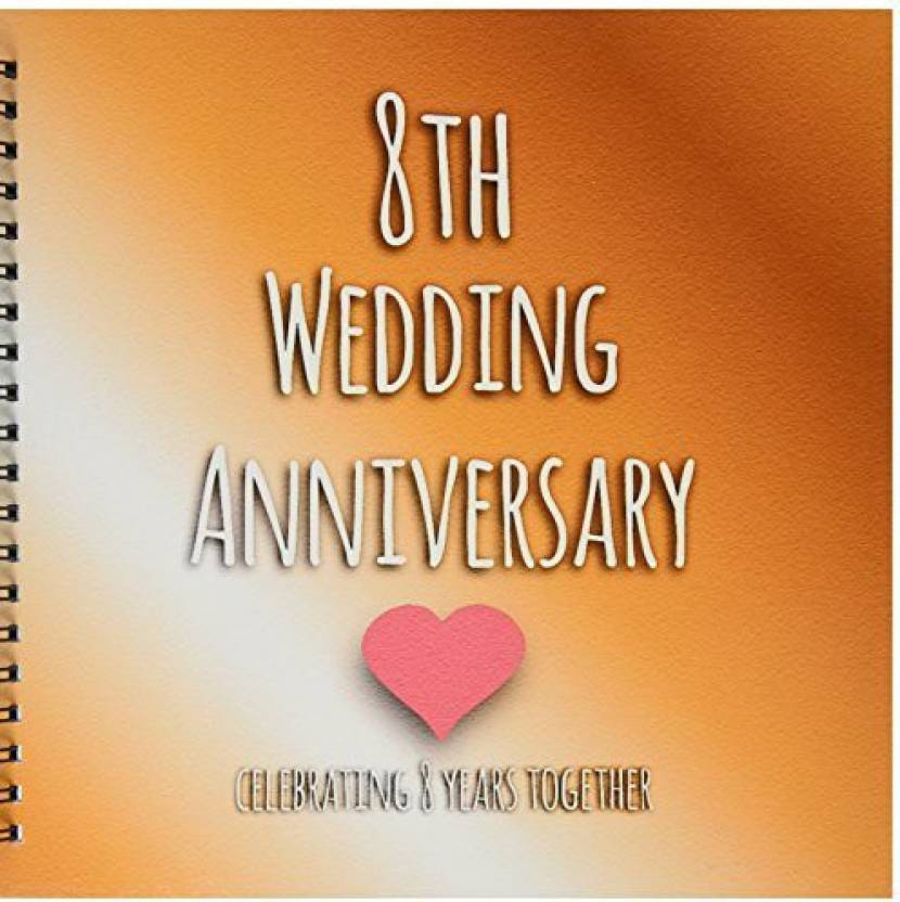 8th Wedding Anniversary.3drose Llc Db 154439 2 Memory Book 12 By 12 Inch 8th