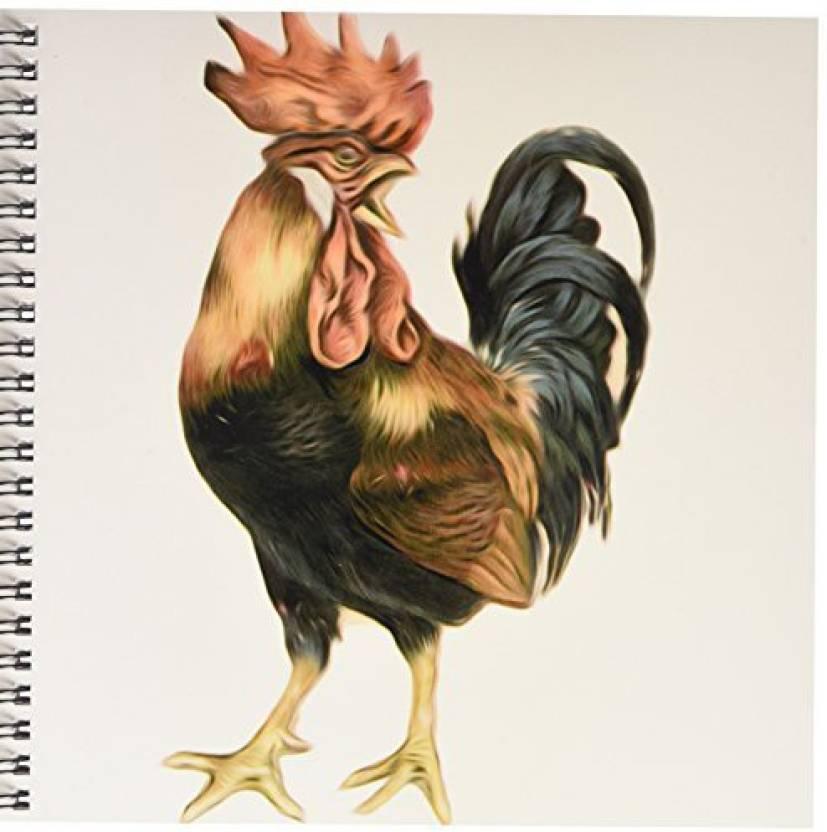 2c18a83f202c 3dRose db_119023_1 Vintage Antique Bird Illustration Cock Rooster ...