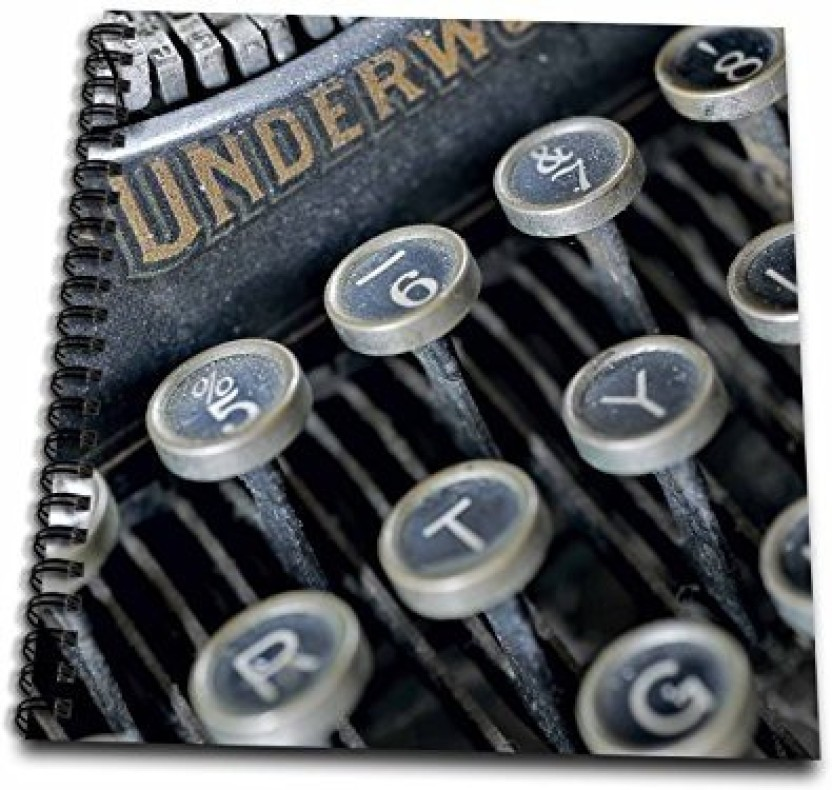 UPPER CASE TYPEWRITER ALPHABET Rubber Stamp InkaDinkaDo