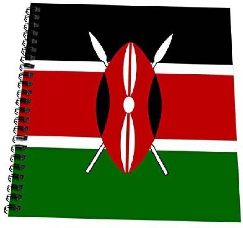 3dRose db_158349_2 Flag Of Kenya Kenyan Black Red Green with