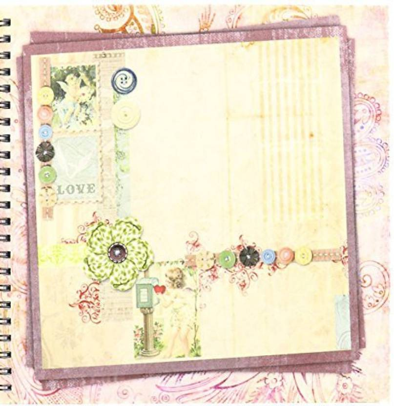 3drose Db341311 Vintage Scrapbook Drawing Book 8 By 8 Inch