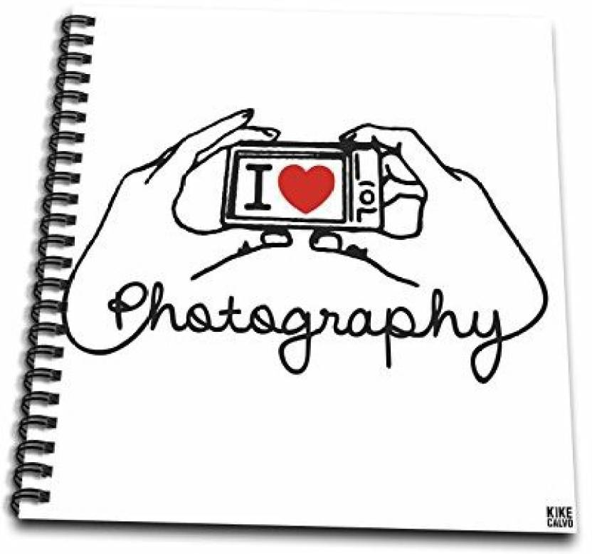 best website 6fd20 ab604 3dRose db 37766 2 I Love Photography on White Background Memory Book, 12 by  12 Inch - db 37766 2 I Love Photography on White Background Memory Book, ...