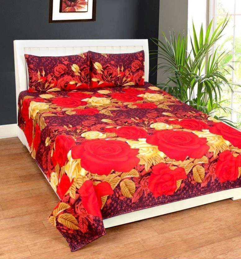 Homesense 180 Tc Polycotton Double King Floral Bedsheet Buy