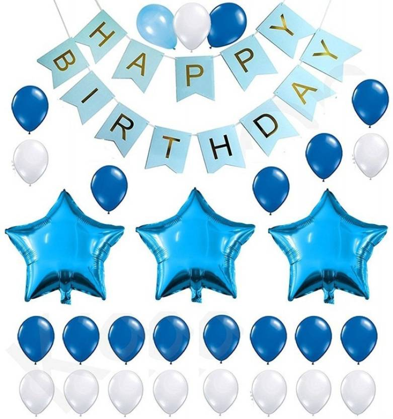 Theme My Party Birthday Decoration Kit Blue Price In India