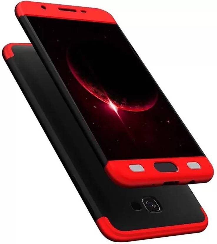size 40 1cc8f 91235 HAPTIC Back Cover for Samsung Galaxy J7 Prime (3-In-1) Slim Fit Complete 3D  360 Degree Protection Bumper (Black & Red)