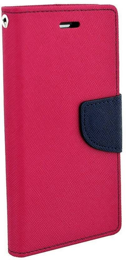 Avzax Flip Cover for Lyf Flame F8 Pink, Dual Protection