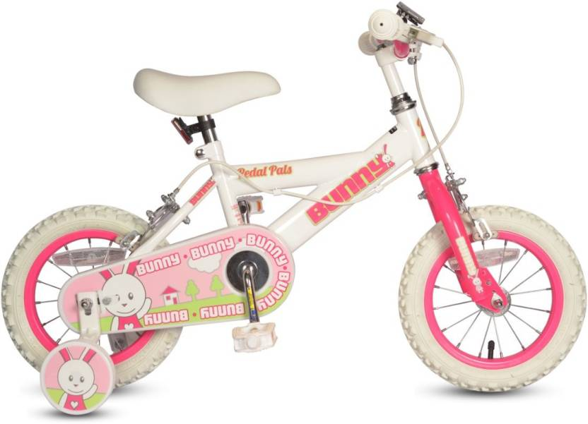 Hero Bunny 12 T Recreation Cycle Single Speed, White, Pink