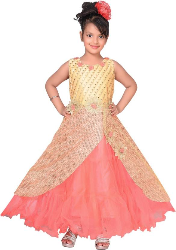 e37854245 Sky Heights Girls Maxi Full Length Party Dress Price in India - Buy ...