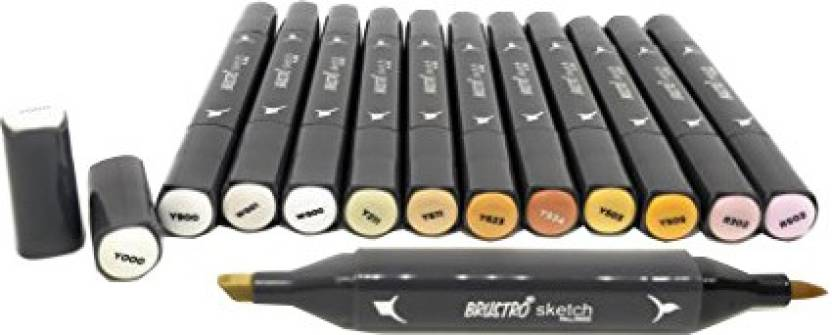 Flipkart Com Brustro Sketch Markers Skin Tone Set Of 12