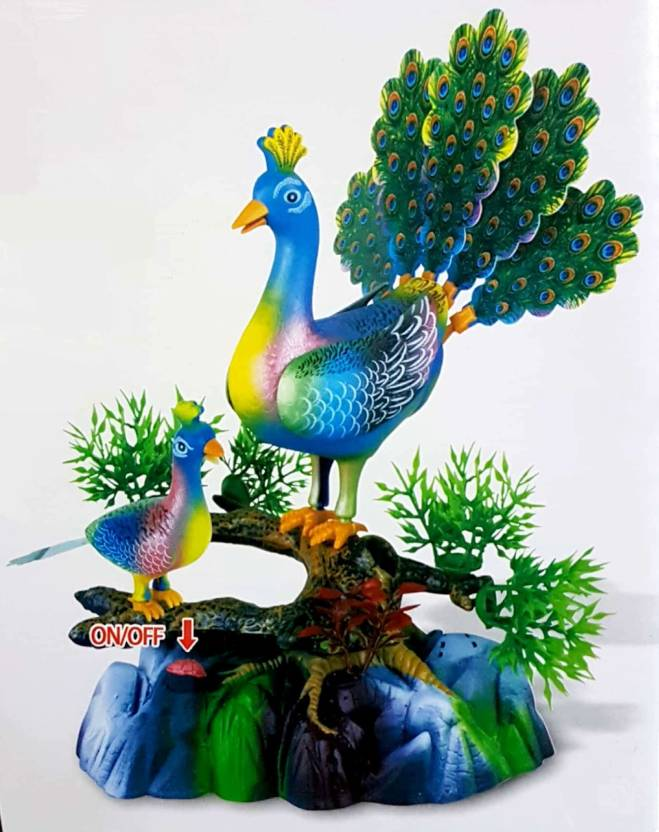 Hytech Peacock Musical Toy With Moving Mouth & Wings And