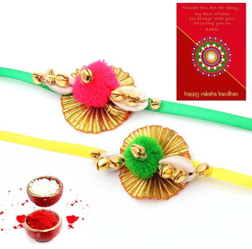 Happy Rakhi 2018 Bhaiya Bhabhi Rakhi Set Price in India