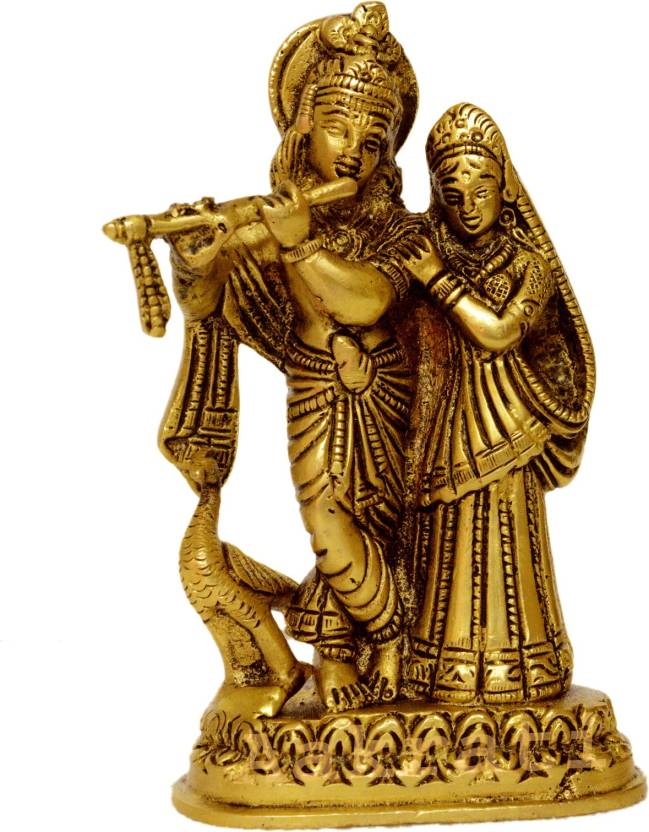 cb9ffab395e Aakrati Radha Krishna Idol metal Murti  Statue With Flute