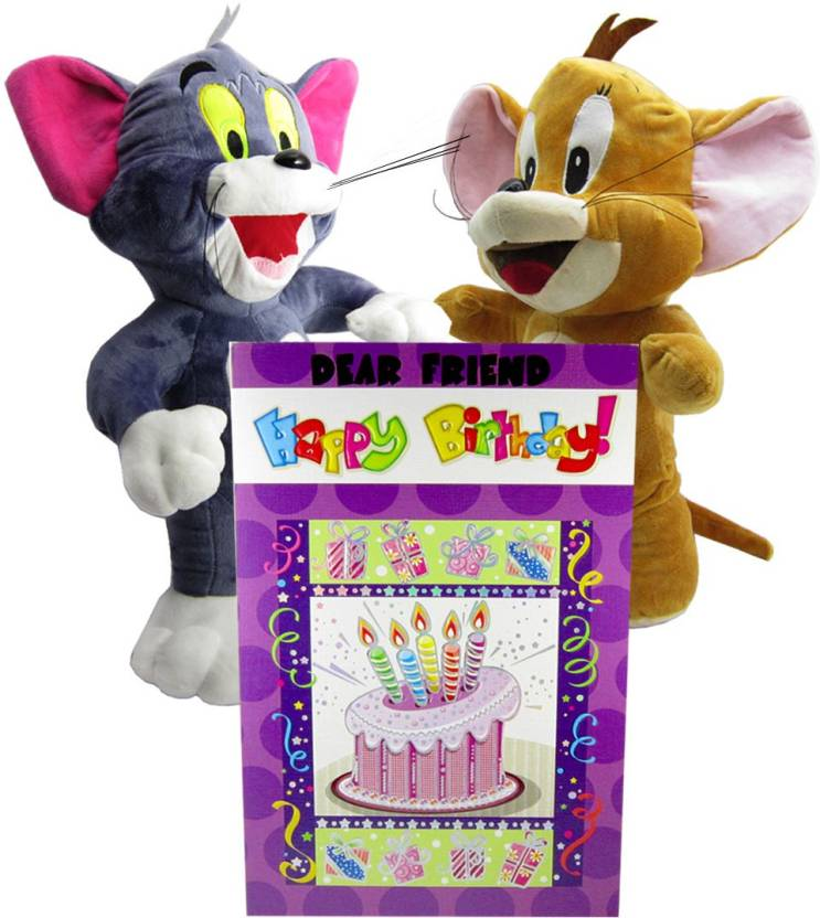 Gift Decor Shop Tom Jerry Soft Toy Multi 46 Cm With Happy
