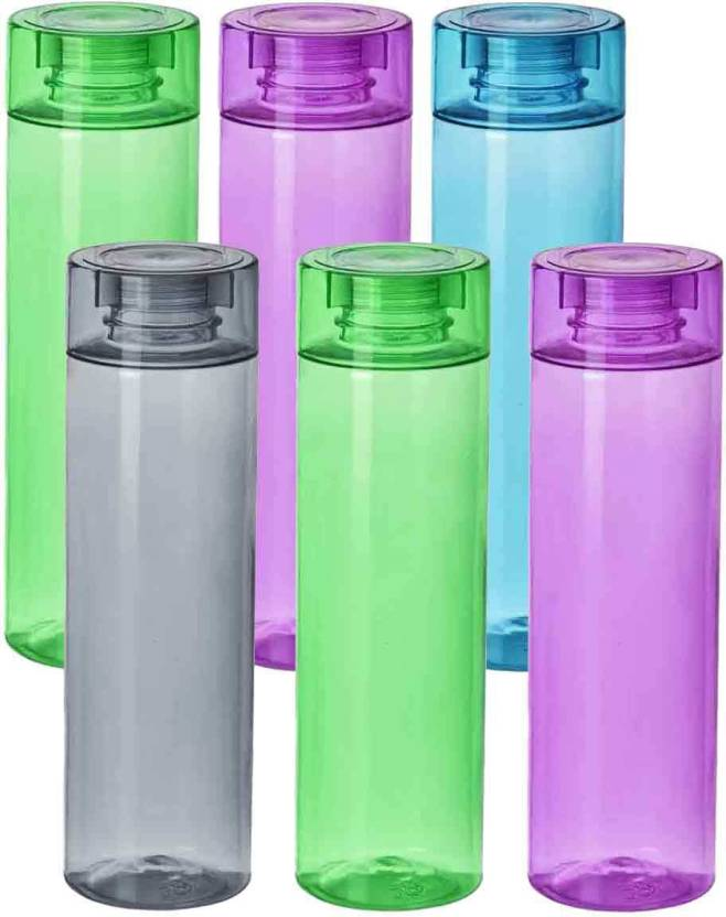 062e6d73e6 GreenViji O2 Plastic Water Bottle 1000 ml Bottle (Pack of 6, Multicolor)