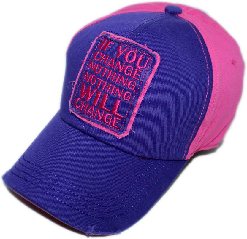 be267225849 Friendskart Solid Solid Printed Adult Unisex IF You Change Nothing Will  Change Casual Baseball Caps fashion