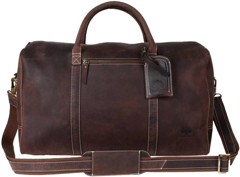 0d20e4bb4d Rustic Town Duffel Bag Overnight Weekend Luggage Carry On Airplane  Underseat Travel Duffel Bag (Brown)