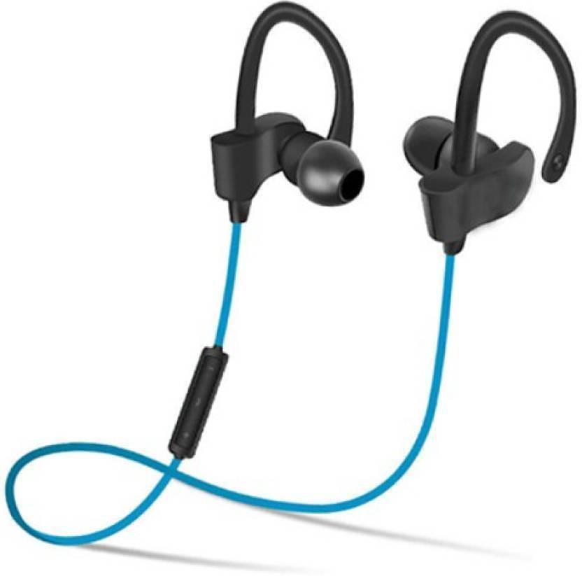 4c831d25905 Crazeis QC-10 Bluetooth Earphone Wireless Headphones Bluetooth Headset  Bluetooth Headset with Mic (Blue, In the Ear)