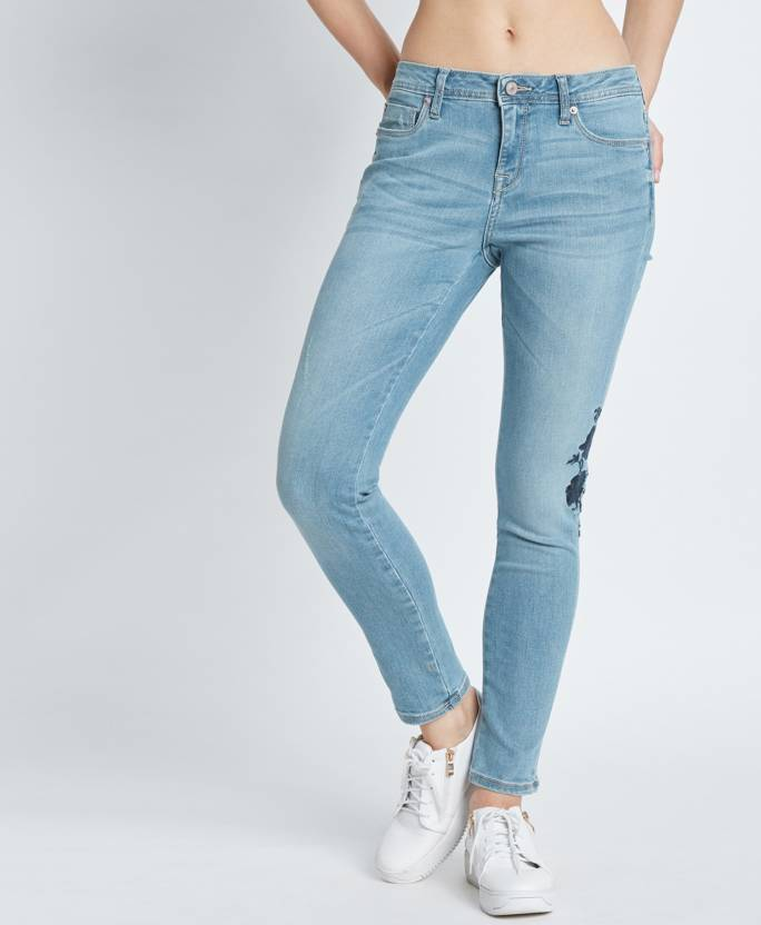 bca3c415 Lee Cooper by FBB Skinny Women Light Blue Jeans - Buy Lee Cooper by FBB  Skinny Women Light Blue Jeans Online at Best Prices in India | Flipkart.com