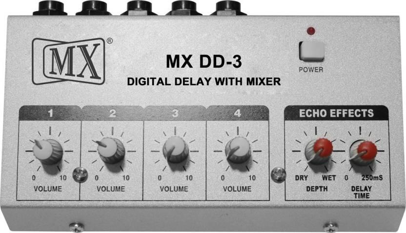MX DD3 Digital Delay 4 Channel Mini Microphone Mixer Mic Digital