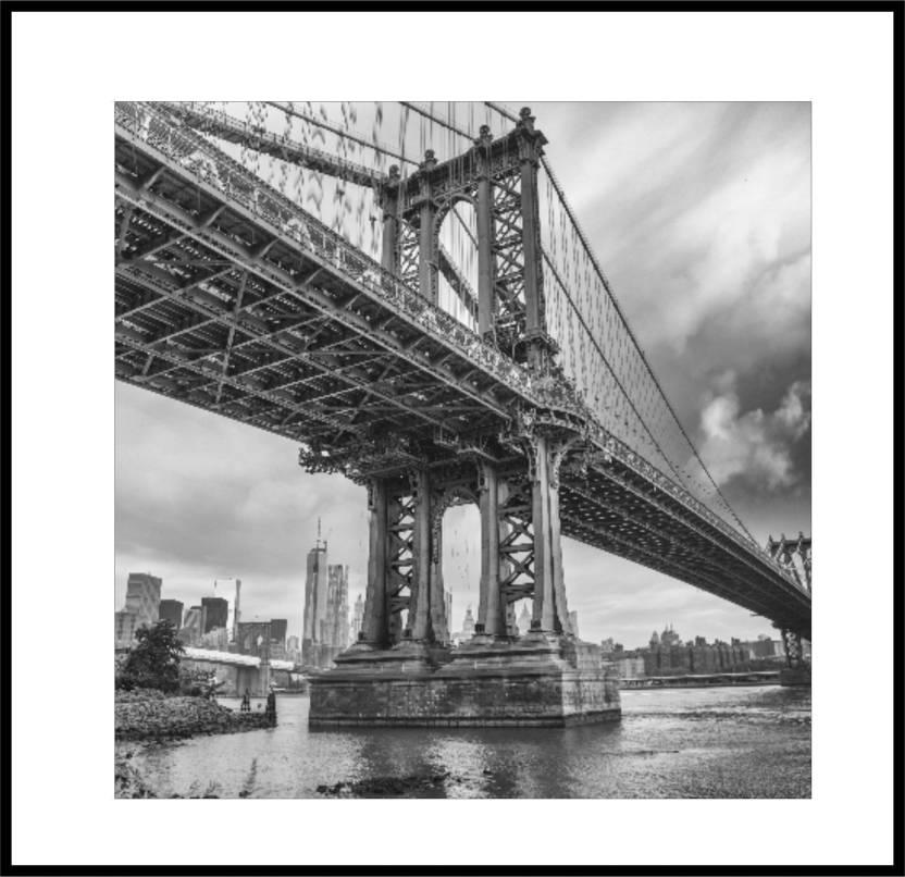 Coloron Dreamz Still Life Bridge Shade of Grey Canvas