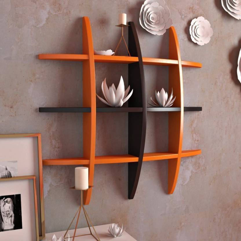 Martcrown E Wood Living DÃ Â Cor Globe Shape Floating Wall Shelves Rack â