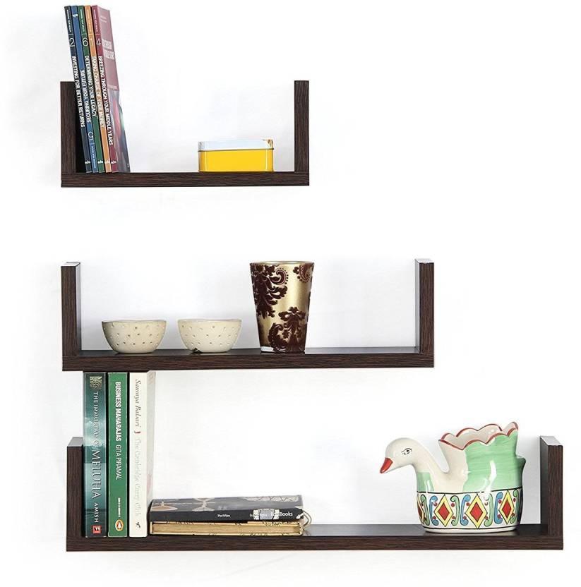 size 40 c5555 e844d VIKI | U-Shaped Floating Wall Book Shelf/Rack (Wenge, Set Of ...