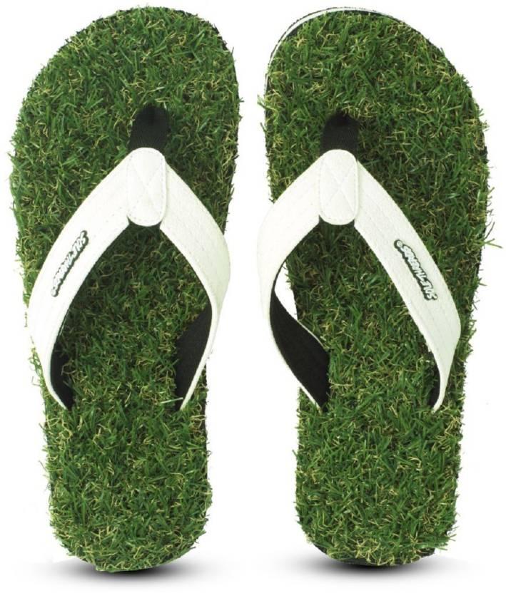 557846eec Sole Threads Men Green GRASS FAB Flip Flops - Buy Sole Threads Men ...