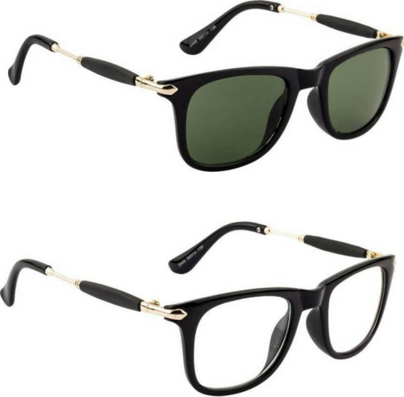 f952d30e7778 Buy Honey Boney Retro Square Sunglasses Green