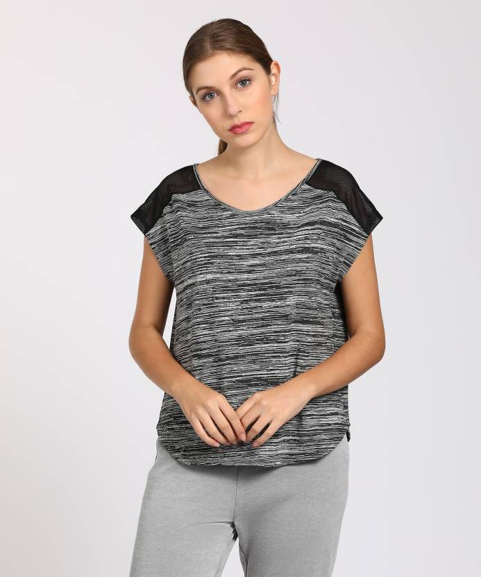 3e23247b2b608e People Casual Cap Sleeve Self Design Women's Black, White Top - Buy Black People  Casual Cap Sleeve Self Design Women's Black, White Top Online at Best ...