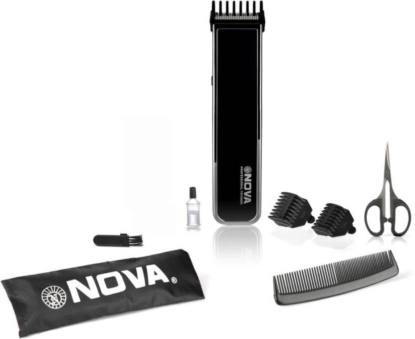 Nova NHT 1055 BL Cordless Trimmer for Men  (Black) at Flipkart ₹ 314