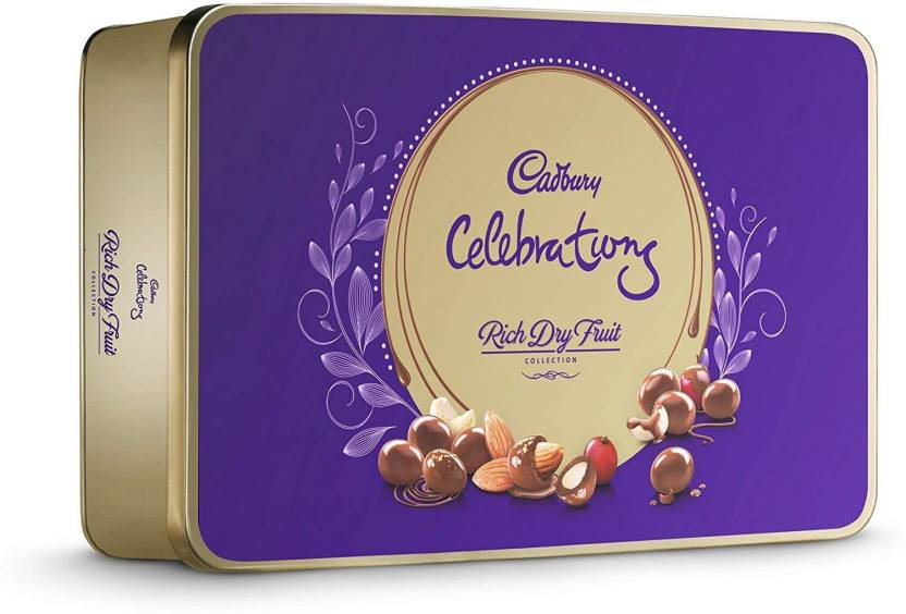 Cadbury Celebrations Rich Dry Fruit Chocolate Gift Box 177g Brittles