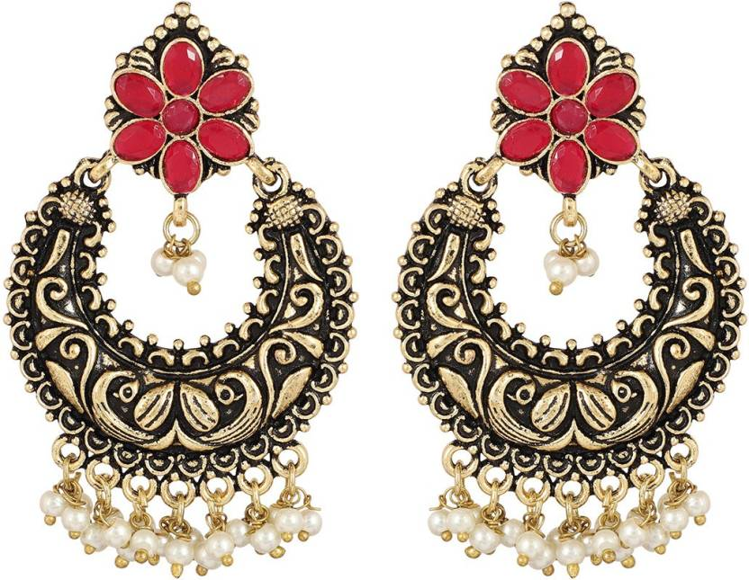 Flipkart Muchmore Fl Shape With Pearl Dropping