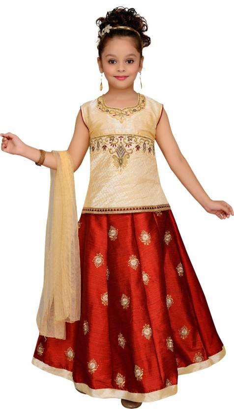 9900816499c Aarika Girls Lehenga Choli Fusion Wear