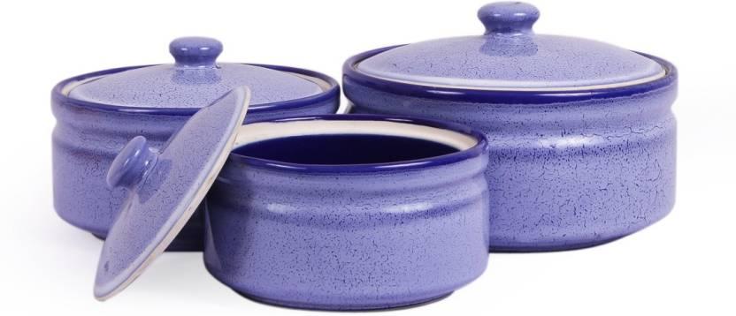 Vareesha Marble Stoneware Serving Bowls With Lid Set Ceramic Bowl