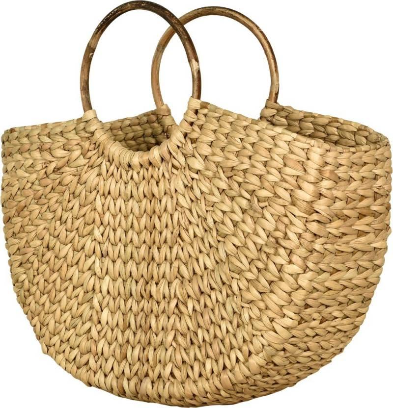 82c6d88edf9b LBohe Straw-dry grass/ Natural Cane/ Cotton Canvas/ Handbag-Shopping ...