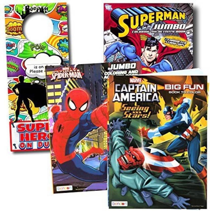Generic Bendon Intl Classic Superheroes Coloring Books