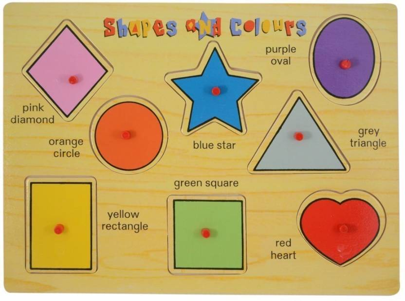 Instabuyz Non-toxic eco friendly Shapes & Colours Educational Wodden  Board??/puzzle for Kids