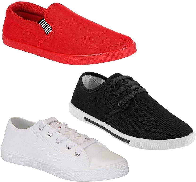 68f2a76be4a8a Pexlo Combo Pack of 3 Casual Shoes (Loafers Shoes) Sneakers For Men  (Multicolor)