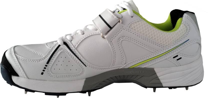 3b0d012cba12 SG Hi-Light Cricket Studds with Metal Spikes Cricket Shoes Cricket Shoes  For Men (White