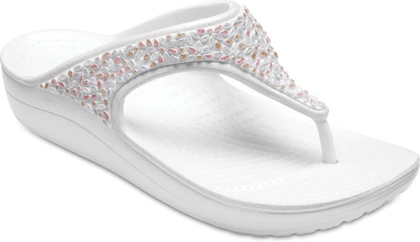 1b3b3becceea Crocs Crocs Sloane Embellished Flip Slippers - Buy Crocs Crocs Sloane  Embellished Flip Slippers Online at Best Price - Shop Online for Footwears  in India ...