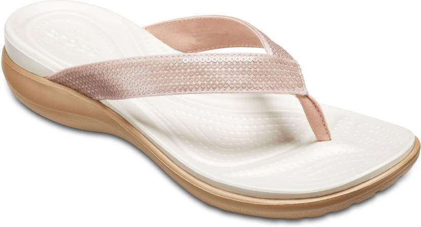 582109e0ba7b Crocs Crocs Capri V Sequin W Flip Flops - Buy Crocs Crocs Capri V Sequin W Flip  Flops Online at Best Price - Shop Online for Footwears in India
