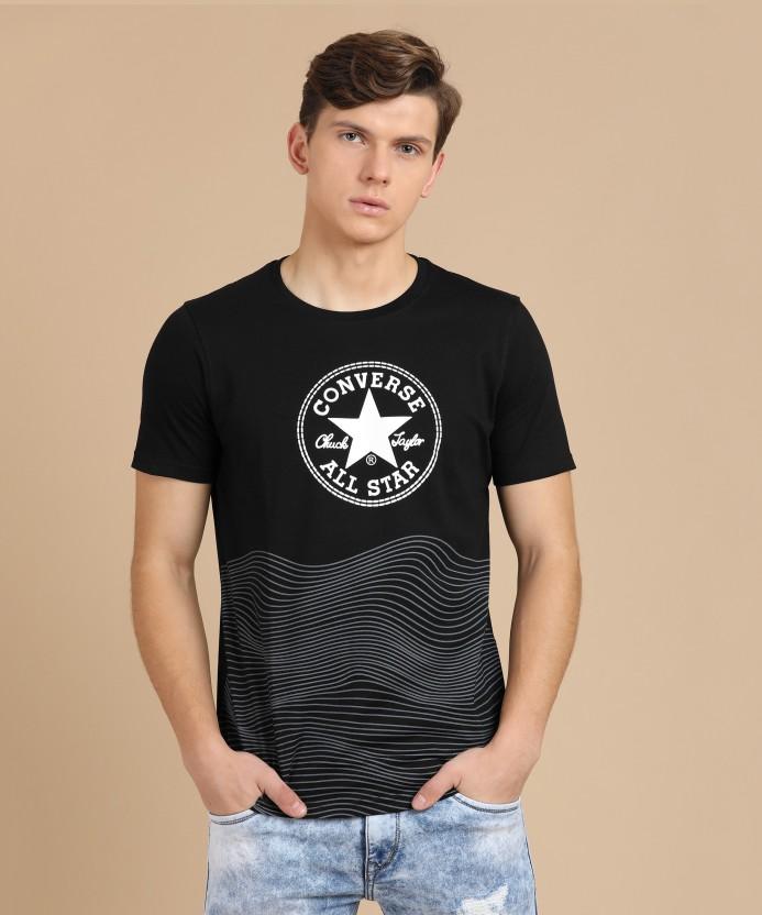 converse t shirt black