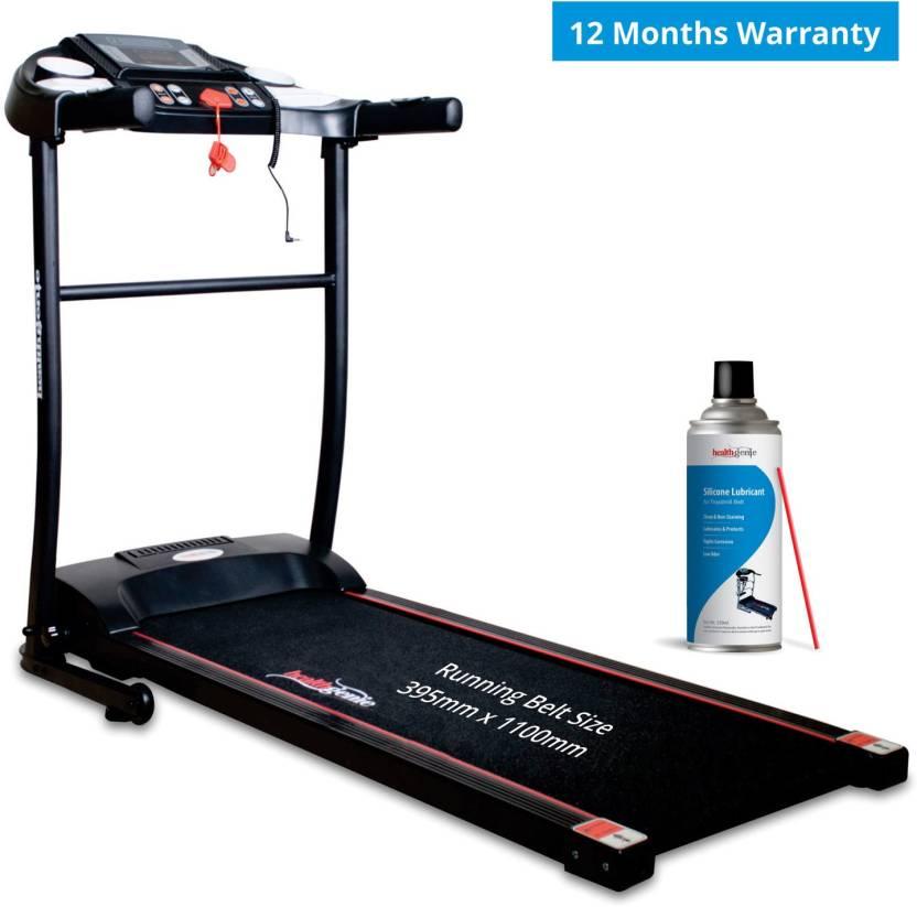 Healthgenie Motorized Treadmill 3911M with silicone Lubricant, Max Speed 10  Kmph Treadmill