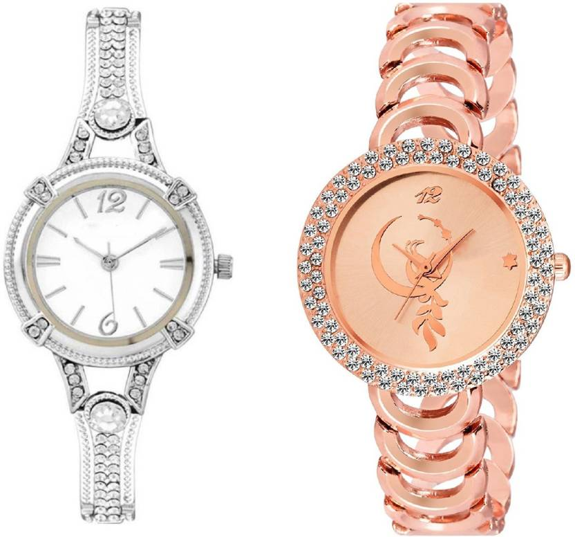 e106688f646 Lifetime latest silver and rosegold metal belt with diamond girl wrist watch  for girls watches for