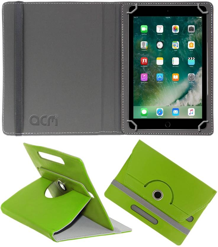 ACM Flip Cover for Apple Ipad 9.7 2017 A1822 Green, Cases with Holder