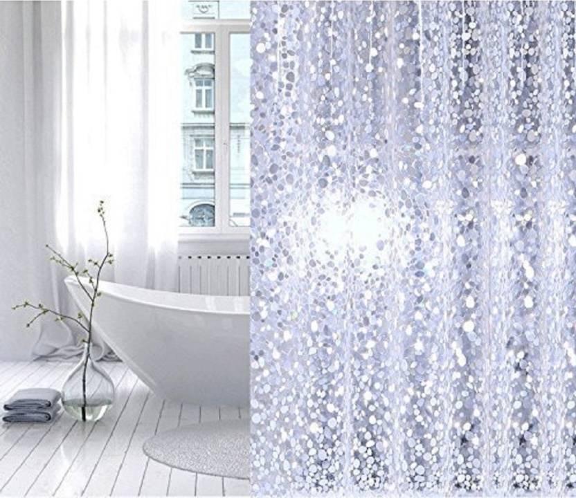 CASA Furnishing 213 Cm 7 Ft PVC Shower Curtain Pack Of 4