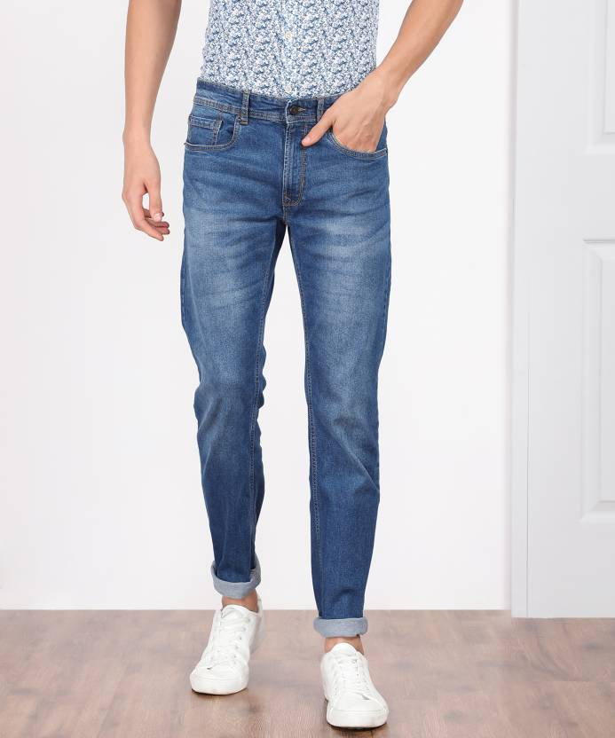 0e41d1f144b Peter England Jacob Slim Men s Blue Jeans - Buy Blue Peter England Jacob  Slim Men s Blue Jeans Online at Best Prices in India