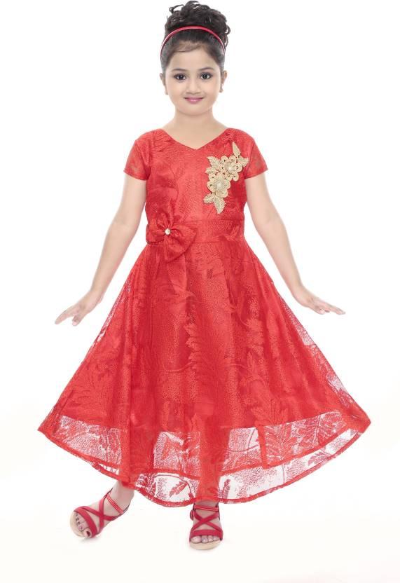 6697d28055 stylokids Girls Maxi/Full Length Party Dress Price in India - Buy ...